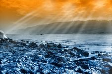 Amzing Sunshine On The Lake Stock Photography