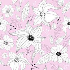 Pink Pastel Seamless Floral Pattern Stock Photo