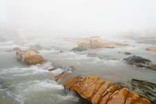 Free Fog In Winter Over The Stream Stock Photos - 20998953
