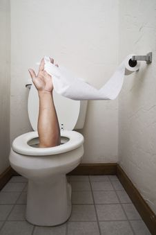 Handy Toilet Stock Photo