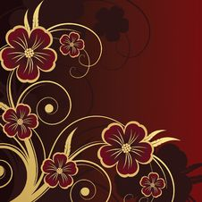 Free Floral Design. Vector Illustration Royalty Free Stock Photo - 20999205