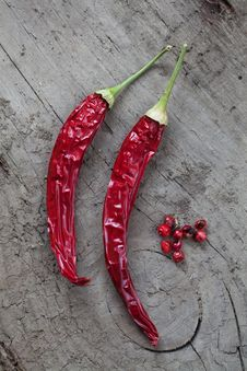 Free Dried Red Pepper Royalty Free Stock Photos - 20999288