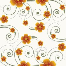 Free Floral Design. Vector Illustration Royalty Free Stock Photo - 20999455