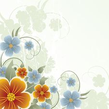 Free Floral Design. Vector Illustration Royalty Free Stock Images - 20999479
