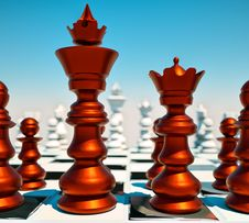 Free Chess Battle Royalty Free Stock Image - 20999566
