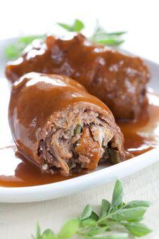 Free Fresh Filled Meat Roulade Royalty Free Stock Photo - 20999955