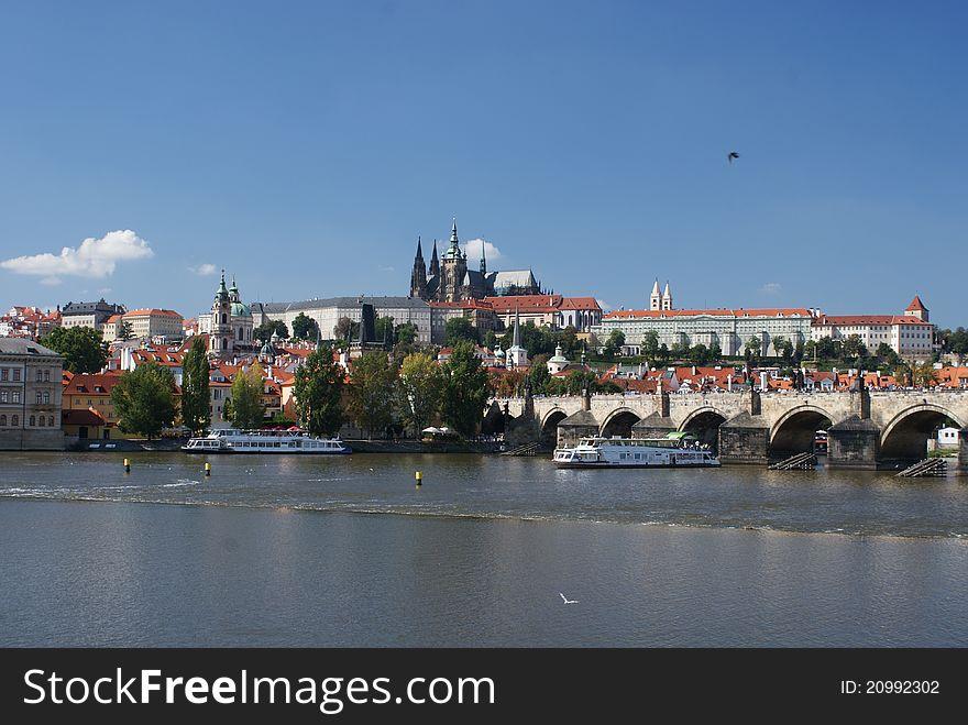 Panoramic view of Prague castle