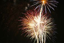 Free Fireworks At Night Royalty Free Stock Photography - 213067