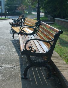 Free Classic Benches Stock Image - 213121