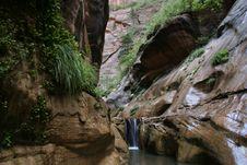 Free Green Grotto Waterfall Stock Image - 213201
