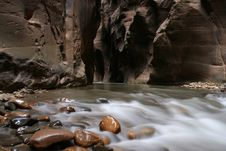 Free River Coming Out Of Rock Stock Photography - 213202