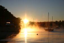 Free Smoke/Fog On The Water Royalty Free Stock Photo - 213475