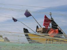 Free Boat Ad Fishing Nets Stock Photo - 214010