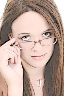 Free Illustration Of Fourteen Year Old In Eyeglasses Royalty Free Stock Photos - 214618
