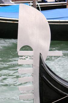 Free Iron Of Gondola Venice Italy Royalty Free Stock Photos - 217788