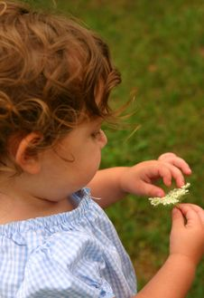 Free Child In The Garden Stock Photos - 218013