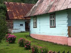 Free Blue-painted Cottages Stock Photo - 218680