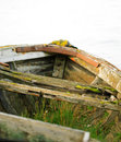 Free Grass Filled Disused Boat Royalty Free Stock Photos - 2101428