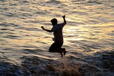 Free Jump In The Water Stock Images - 2100444