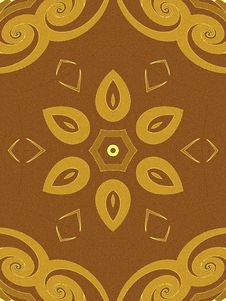 Free Floral Pattern In Gold Brown Royalty Free Stock Images - 2100519