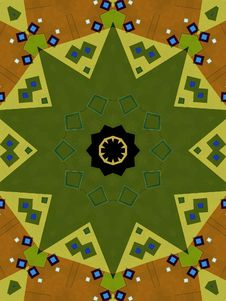 Free Kaleidoscope Patterns In Green Stock Image - 2100521