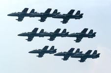 Free Group Of Jet Planes Royalty Free Stock Photos - 2100938