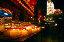 Free Wishing Candle Bottles Royalty Free Stock Image - 2101016