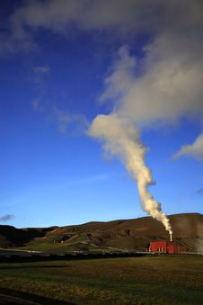 Krafla Power Station Royalty Free Stock Photography