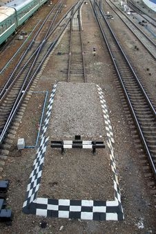 Railway Deadlock Stock Photo