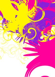 Colorful Swirls Stock Images