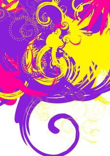 Colorful Swirls Stock Image