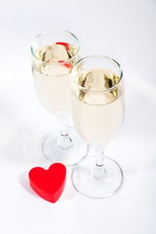 Free Heart And Champagne Stock Photo - 2102450