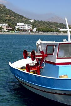 Free Crete Fishing Boat Stock Photo - 2103140