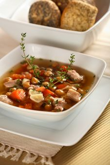 Meat With Vegetables And Herbs Royalty Free Stock Image
