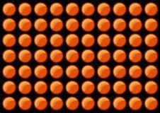 Orange Star Patter. Vector Art Stock Image