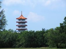 Free Chinese Pagoda Building Royalty Free Stock Image - 2103766
