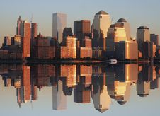 Free Lower Manhattan At Sunset Royalty Free Stock Images - 2104829