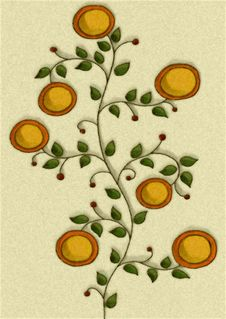 Flower Illustrations In Gold Royalty Free Stock Images