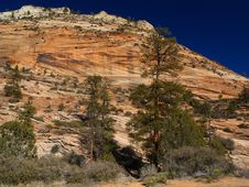 Mountains In Zion National Park Royalty Free Stock Images