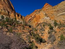 Mountains In Zion National Park Stock Photography