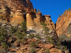 Mountains In Zion National Park Stock Photos