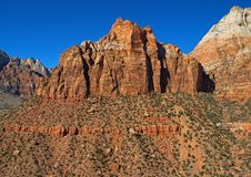 Mountains In Zion National Park Stock Images
