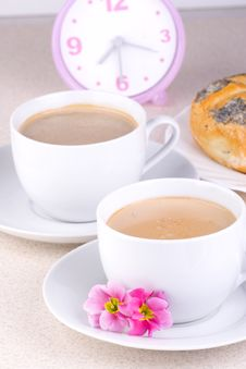 Free Two Coffees In The Morning Royalty Free Stock Photography - 2106127