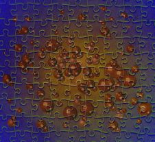 Puzzle With Brown Bubbles Stock Photography