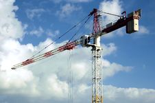 High Rise Crane Royalty Free Stock Image