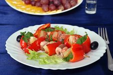 Free Second Course - Trout Shashlik Stock Photos - 2106523