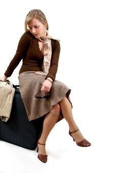 Free Woman With Huge Bag Royalty Free Stock Photo - 2107055