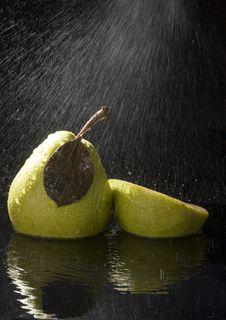 Free Pears In Rain Stock Photo - 2108390