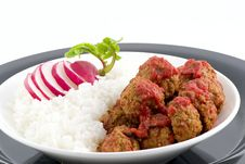 Meat Balls With Pepper Sauce Royalty Free Stock Photos