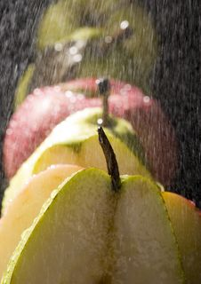 Free Pears In Rain Stock Images - 2108494